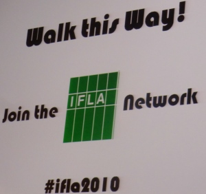 New comers walk this way at IFLA 2010